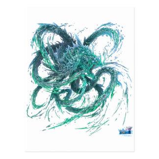 Dragão de água cartão postal