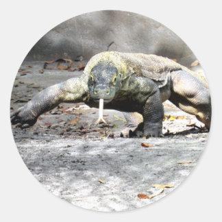 Dragão de Komodo nas etiquetas da caça
