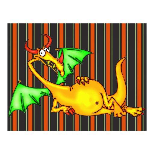 Dragão de relaxamento panfletos coloridos