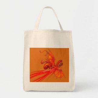 Dragão de respiração do fogo bolsa tote