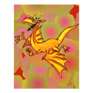 Dragão de vôo flyer 21.59 x 27.94cm