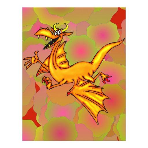 Dragão de vôo panfletos coloridos
