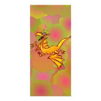 Dragão de vôo 10.16 x 22.86cm panfleto