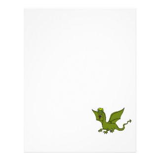 Dragão de vôo verde panfletos coloridos