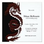 Dragão de Yin Yang Convite Personalizado