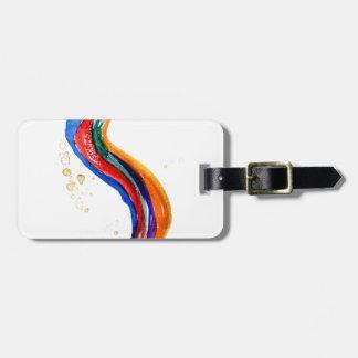 Dragão do arco-íris etiqueta de bagagem