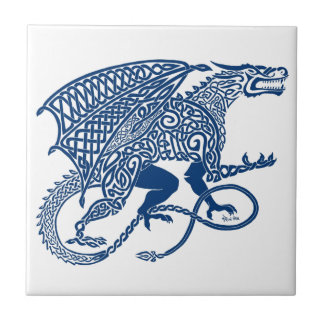 Dragão do azul de Knotwork