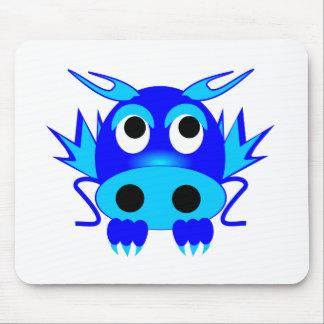Dragão do azul dos desenhos animados mousepad