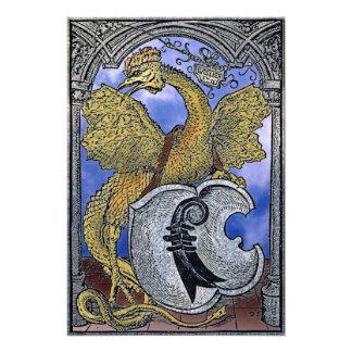 Dragão do Basilisk de Veneza Impressão Fotográfica