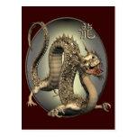 Dragão do chinês do vintage cartão postal