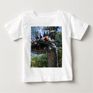 Dragão do motociclista camiseta para bebê