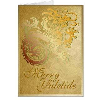 Dragão do ouro - cartão 4 de Yule