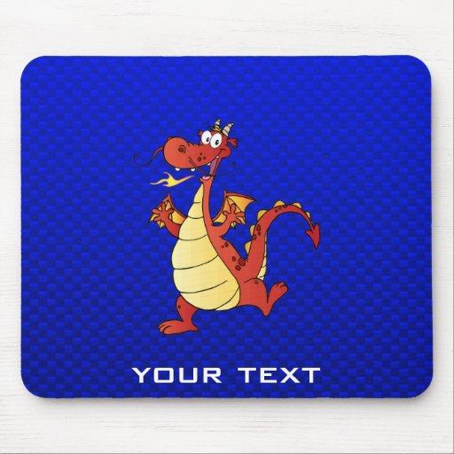 Dragão dos desenhos animados; Azul Mouse Pad