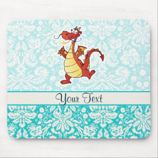 Dragão dos desenhos animados Bonito Mousepads