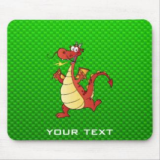 Dragão dos desenhos animados; Verde Mouse Pad