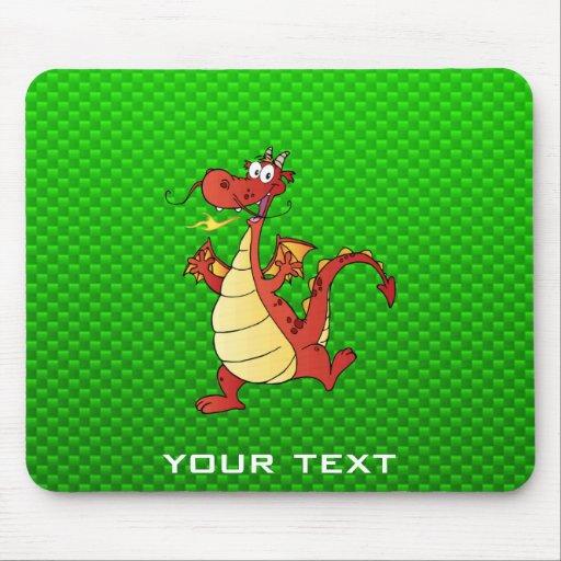 Dragão dos desenhos animados; Verde Mousepad