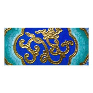 Dragão dourado 10.16 x 22.86cm panfleto