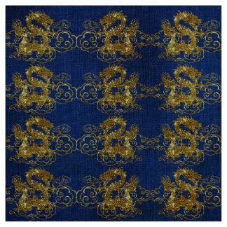 Dragão dourado, tecido