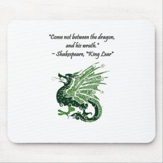 Dragão e seu rei Lear Desenhos animados de Mouse Pad