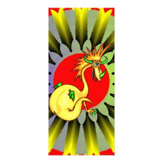 Dragão elegante 10.16 x 22.86cm panfleto