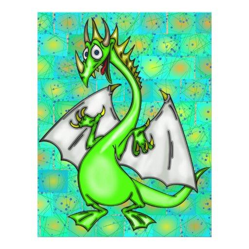 Dragão engraçado panfleto coloridos