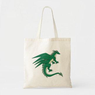 Dragão esmeralda bolsa para compras