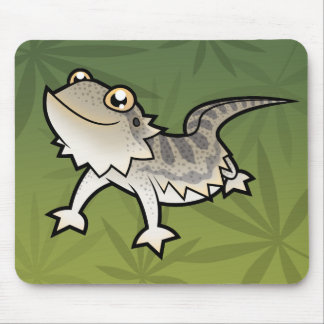 Dragão farpado dos desenhos animados/dragão de mouse pad