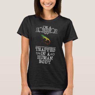 Dragão farpado prendido na camisa do réptil do