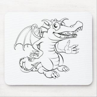 Dragão feliz dos desenhos animados mouse pad