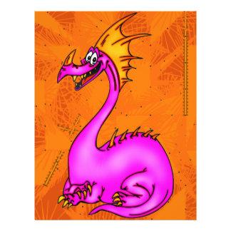 Dragão feliz panfletos coloridos