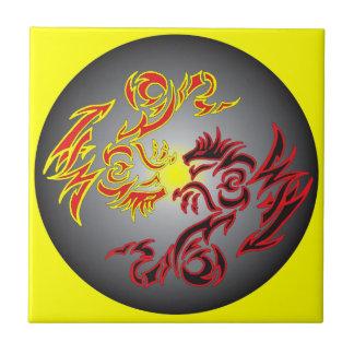 dragão gêmeo vermelho da lua