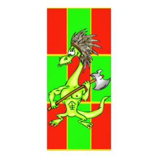 Dragão indiano 10.16 x 22.86cm panfleto