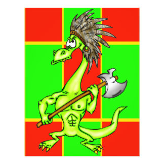 Dragão indiano flyer 21.59 x 27.94cm