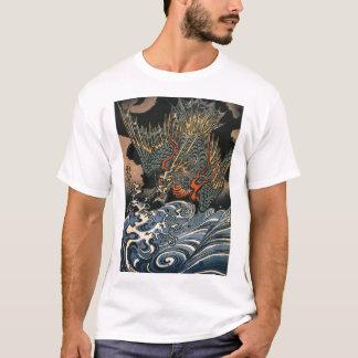 Dragão japonês que pinta a camisa do C. 1800's