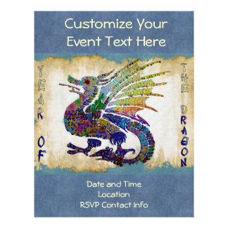 Dragão Jeweled Panfletos Coloridos