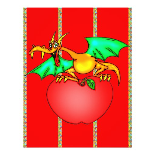 Dragão Loving de Apple Panfleto Personalizado