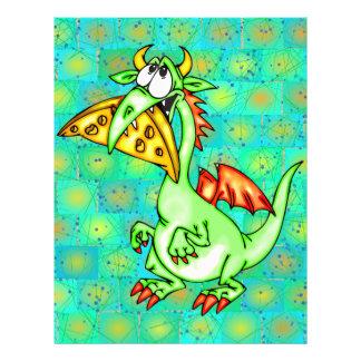Dragão Loving do queijo Panfleto Personalizado