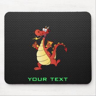 Dragão lustroso dos desenhos animados mouse pad