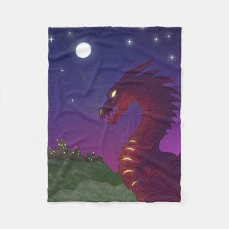 Dragão medieval cobertor de velo