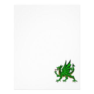 Dragão médio modelo de panfletos