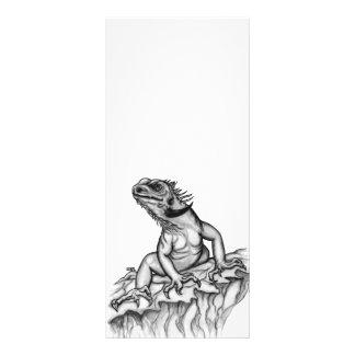 Dragão na rocha 10.16 x 22.86cm panfleto