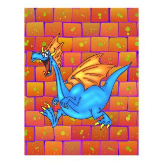 Dragão ocupado panfleto personalizado