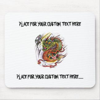 Dragão oriental do símbolo legal do tatuagem dos d mouse pad