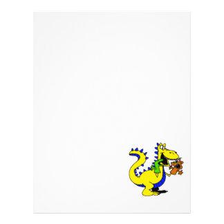 Dragão parvo com os fantoches da peúga bonitos panfletos personalizado