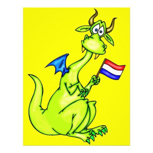 Dragão patriótico panfletos personalizado