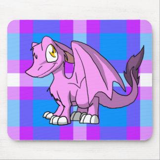 Dragão peludo de Bubblegum SD com parte traseira 1 Mouse Pad