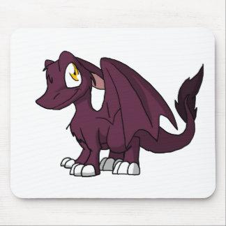 Dragão peludo do SD do rosa escuro Mouse Pad