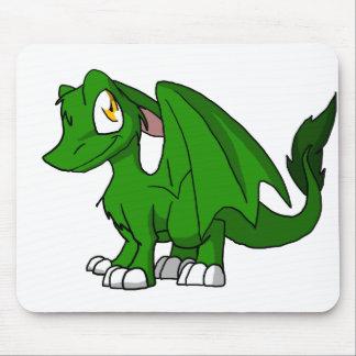 Dragão peludo verde Mousepad do SD do pinho