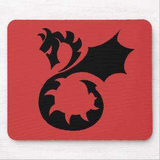 Dragão preto/vermelho Mousepad