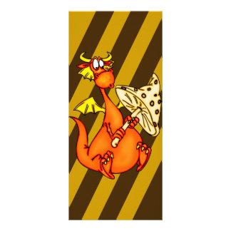 Dragão que guardara o cogumelo 10.16 x 22.86cm panfleto